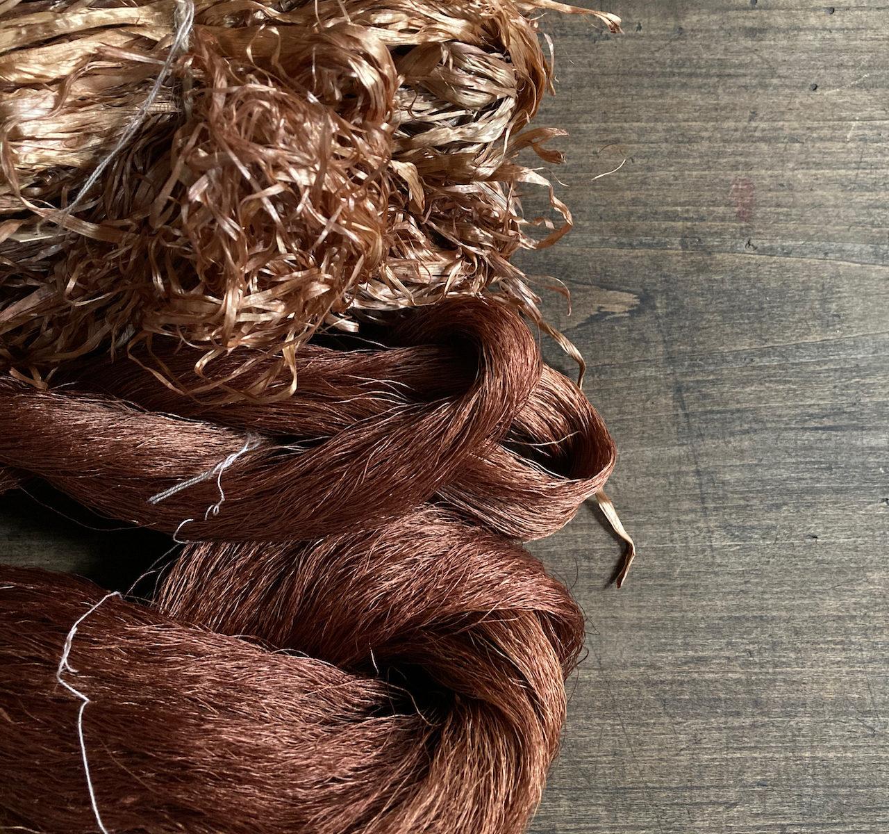 アカソ染めの糸